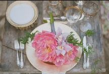 Table Settings / It is said that we first eat with our eyes and then with our mouths, thus, presentation is everything when it comes to the perfect wedding table! These lovely photos will surely inspire you to creatively set your table with those necessary finishing touches! / by Ruche Bridal