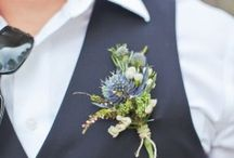 For the men / ideas for colors, outfits , buttonholes for grooms and groomsmen