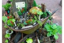 my daughter's fairy stuff / Fairy Gardens for the little girl in all of us.