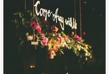 Hanging floral decoratons