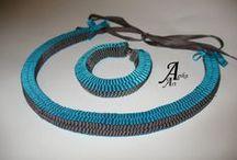 Tape jewelry / Tasiemkowa biżuteria Agika Art / http://agika-art.blogspot.com/p/bizuteria.html