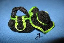 Crochet jewelry / Szydełkowa biżuteria Agika Art / http://agika-art.blogspot.com/p/bizuteria.html