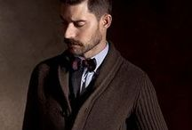 """Men's Collection Fall Winter 2014 / Return to the """"Well-Dressed Man"""". - Style and sartorial care come alive in this modern collection dedicated to formal living, which boasts a wealth of precious fabrics and materials. Versatile shades of ink, cigar and lignite play host to subtle, refined patterns that seize upon the character of the yarn in elegant coats and suits."""
