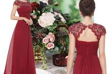 Cranberry bridesmaids
