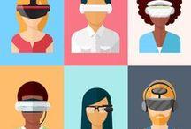 Virtual Reality (VR) / A realidade virtual é unha contorna de escenas ou obxectos de aparencia real. A acepción máis común refire a unha contorna xerada mediante tecnoloxía informática, que crea no usuario a sensación de estar inmerso nel. Devandita contorna é contemplado polo usuario a través normalmente dun dispositivo coñecido como lentes ou casco de realidade virtual...