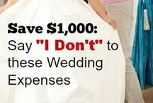Save Money on Wedding Costs / Everything wedding - venues, flowers, and managing stress! :) How to save money on your #wedding while still having a beautiful day!