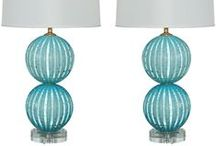 Blue/Green Table lamps / Table lamps that would be great for a beach house