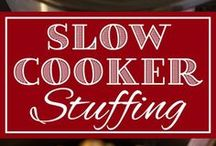 Thanksgiving Slow Cooker Recipes / I love my slow cooker because it's easy, set it and forget it! For Thanksgiving, I need EASY! #Thanksgiving #slowcooker #slowcookerrecipes