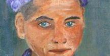 Pintura y arte / Cuadros acrílicos. Sobre lienzo, en tableros entelados,sobre madera, sobre papel, sobre tela. Cuento con el apoyo de la profesora Cristina Cabané.