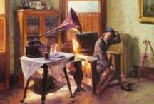 Music ♬ / Music is art and is in art... Find inspiration from some of our favorite musical art prints!   http://www.fulcrumgallery.com/c7732/music-art.htm