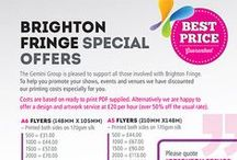 Brighton Fringe / Gemini Print has special offers for anyone involved in this years Brighton Fringe 2015.