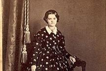 Carte de Visites (Adults) / Carte de Visites and photographs of mid 19th century women and men.