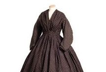 Mid 19th Century Wool Dresses / Wool dress inspiration, originals and reproductions, 1860-65