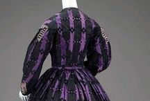 Mid 19th Century Silk Day Dresses / Original and Reproduction Silk Dresses from 1860-65