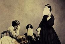 Weeping Sad and Lonely / Mourning Dresses, Accessories and Images from the mid 19th century