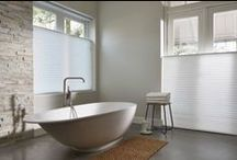 Tranquil Bathrooms / Privacy, light control, humidity and water splashing are key considerations when selecting the perfect window covering solution to create a tranquil bathroom for your home