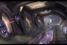 sci-fi schematics-- & -- interiors / by James Furtado