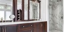 Our Vanities. / Custom kitchens designed, manufactured, and installed by us.