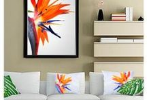 BIRD OF PARADISE / Symbol of freedom and joy. Emblem for paradise itself. Perfect representation of a good and clear perspective on life.  The bird of paradise flower has become the focal point of many artists. The bright hues and exotic features of these flowers have made their way into the work of famous and independent painters such as Pam Houle, Marshall White and Derek McCrea.