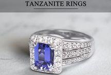 Tanzanite and Diamond Rings