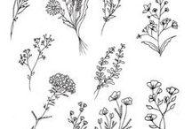 Fleurs / Flowers / Fleurs peintes, griffonnées, au stylo #flower #flowers #garden #colors #fleur #fleurs #colorful #couleurs #nature #fields #forest