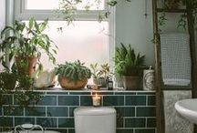 Salle de bain / Bathroom / Toutes les inspirations pour la salle de bain #bathroon #bathtub #bath #shower #tiles #tile #douche #bain #baignoire #carrelage #salledebain