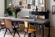 Salle à manger / #diner #party #friends #food #yummy #table #decoration #salleamanger #kitchen #flowers #livingroom #furniture #ideas #idea #idées #diy