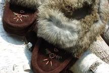 Moccasins / Deerskin, moosehide, sheepskin and buffalo hide moccasins - all made in Canada!