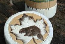 Porcupine Quil and Birchbark Baskets / Centuries-old techniques are used to create these baskets. Each is a one-of-a-kind treasure.