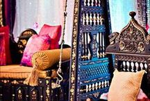 Eclectic Bohemian Decor Inspiration / Bohemian, Gypsy, Moroccan, Indian and other influences. Natural elements with bright bold colors. / by Tara Diaz