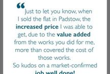 T E S T I M O N I A L S / See the lovely things our clients have said about our work!