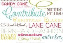 Fonts & Wreath