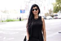BLACK BLACK & MORE BLACK / Black Maxi top and white jeans