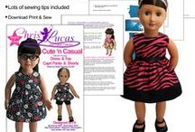 Chris Lucas Designs - Doll Sewing Patterns / A collection of Chris Lucas Designs doll sewing patterns and outfits made using them.