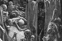 Gustav Dore / The dark art that inspired H.P. Lovecraft.