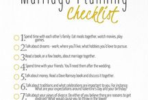Christian & Janet's Rules for Marriage and Life. / Lists of ideas to make for a better marriage, wedding and life.