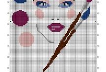 Femme-woman-point de croix-cross stitch / mes créations sur Blog : http://broderiemimie44.canalblog.com/ point de croix - cross stitch - broderie - embroidery