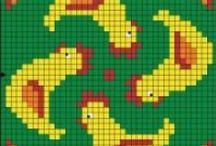 Poule-hen-Poussin-chick-Coq-cock-point de croix-cross stitch / mes créations sur Blog : http://broderiemimie44.canalblog.com/ point de croix - cross stitch - broderie - embroidery