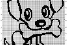 Chien-dog-point de croix-cross stitch / mes créations sur Blog : http://broderiemimie44.canalblog.com/ point de croix - cross stitch - broderie - embroidery