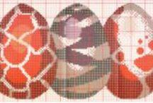 Pâques-easter-point de croix-cross stitch / mes créations sur Blog : http://broderiemimie44.canalblog.com/ point de croix - cross stitch - broderie - embroidery