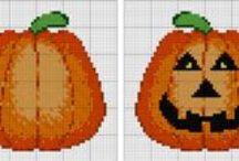 Halloween-point de croix-cross stitch / mes créations sur Blog : http://broderiemimie44.canalblog.com/ point de croix - cross stitch - broderie - embroidery