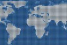Pays-Monde-country-world-point de croix-cross stich / mes créations sur Blog : http://broderiemimie44.canalblog.com/ point de croix - cross stitch - broderie - embroidery