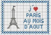 France- Paris-point de croix-cross stitch / mes créations sur Blog : http://broderiemimie44.canalblog.com/ point de croix - cross stitch - broderie - embroidery