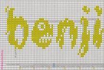 Prénom-first name-point de croix-cross stitch / mes créations sur Blog : http://broderiemimie44.canalblog.com/ point de croix - cross stitch - broderie - embroidery