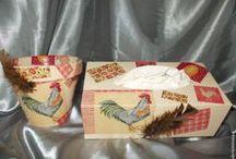 Serviettage-Décoration utile-paper napkin / mes créations sur Blog : http://broderiemimie44.canalblog.com/ point de croix - cross stitch - broderie - embroidery