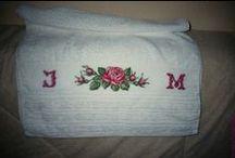 Mes Créa.-Salle de Bains-bathroom-Point de croix-cross stitch / mes Créations sur Blog : http://broderiemimie44.canalblog.com/ point de croix - cross stitch - broderie - embroidery