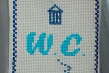 Mes Créa.-Coussin Porte-Sachets / mes créations sur Blog : http://broderiemimie44.canalblog.com/ point de croix - cross stitch - broderie - embroidery
