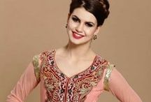 Anarkali Suita Online / Anarkali Designer Suits Online - Suits are embellished with Hand work, fine material, zari. These suits are perfect for party, ceremonial, wedding, occasion presented by Andaaz Fashion http://www.andaazfashion.fr/salwar-kameez
