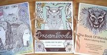 Love To Color // Hand-drawn Colorings / HAND-DRAWN ❁ Coloring Books & Coloring Pillows ❁  Cards by illustrator Evelyn Gyuris: Etsy: https://www.etsy.com/shop/EvelynIllustrations?ref=hdr_shop_menu