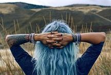 Coloured Hair, Piercings, Tattoos / Expressions of the soul on the surface.